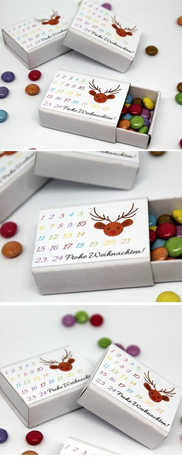 Photo of DIY Adventskalender in einer Streichholzschachtel machen Sie Ihre eigene Vorlage