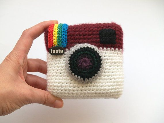 Special offer - Instagram crochet camera - amigurumi gift #crochetcamera SALE 30% OFF - Instagram crochet camera - amigurumi gift by SILAYAYA #crochetcamera