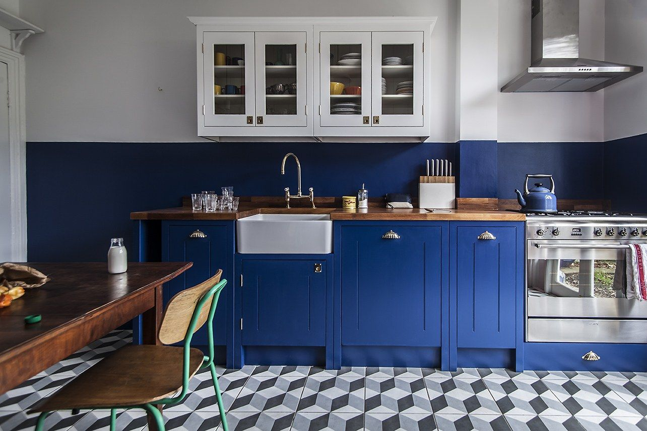 Trend Alert: The Cult of the Blue Kitchen, 10 Favorites | Kitchens ...