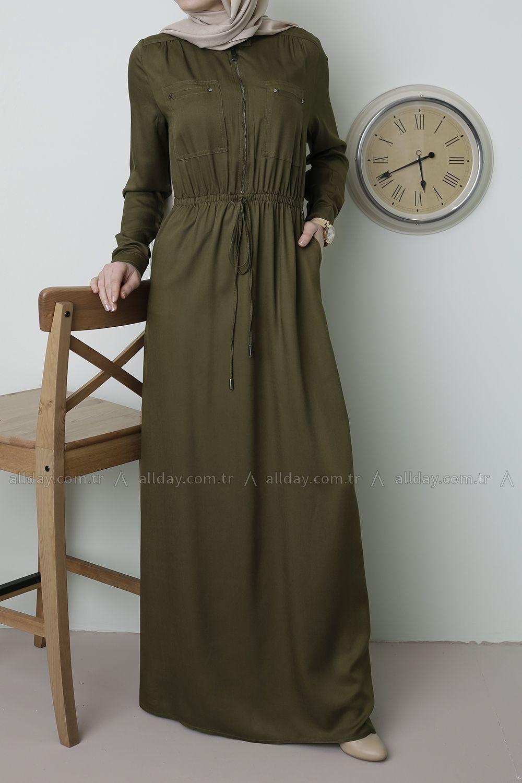 Allday Acik Kahve Elbise 2166 Modelini Incelemek Icin Lutfen Sayfamizi Ziyaret Ediniz Hijab Fashion Hijabi Outfits Muslimah Dress