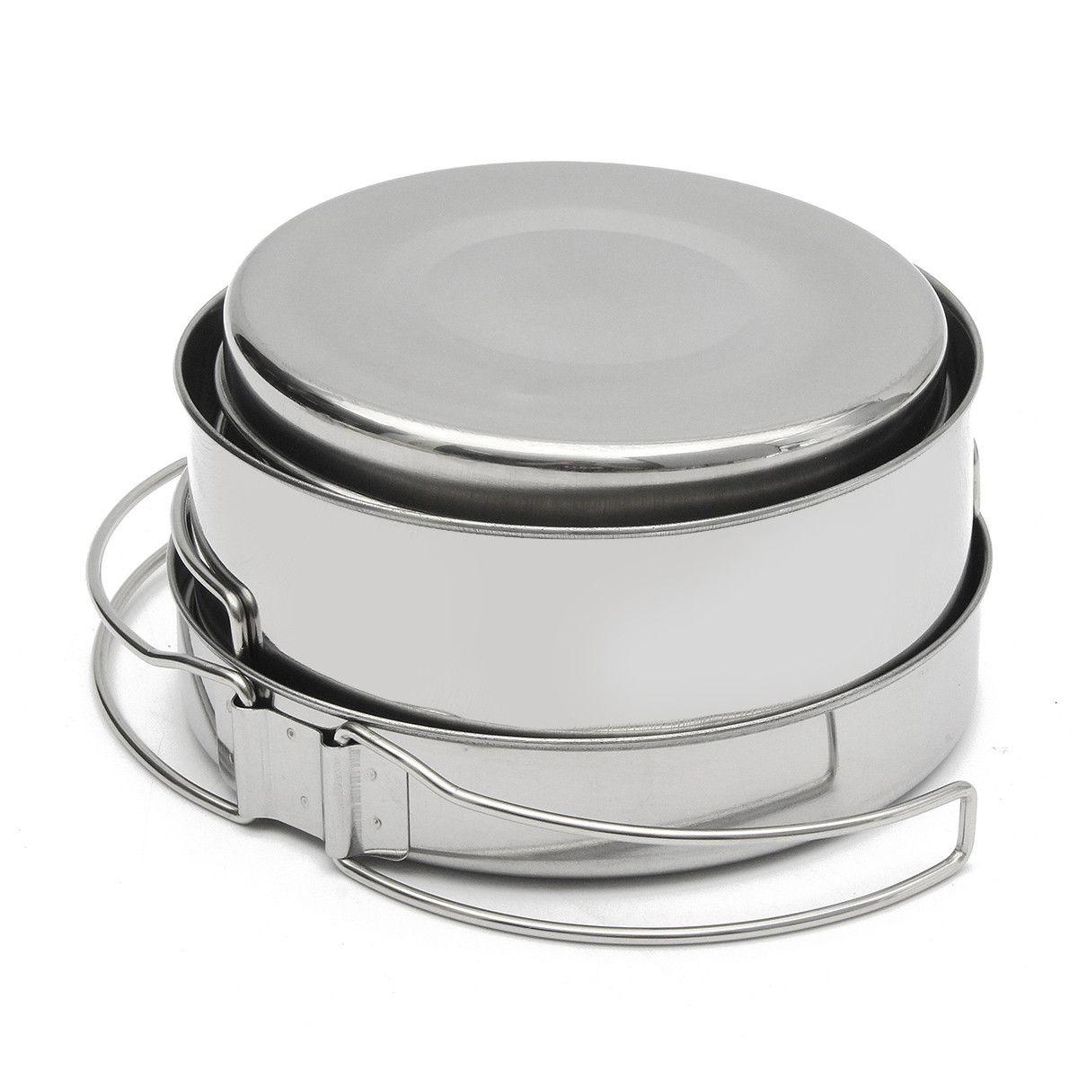 8pcs cocinar al aire libre de picnic barbacoa placa taza olla sartén ...