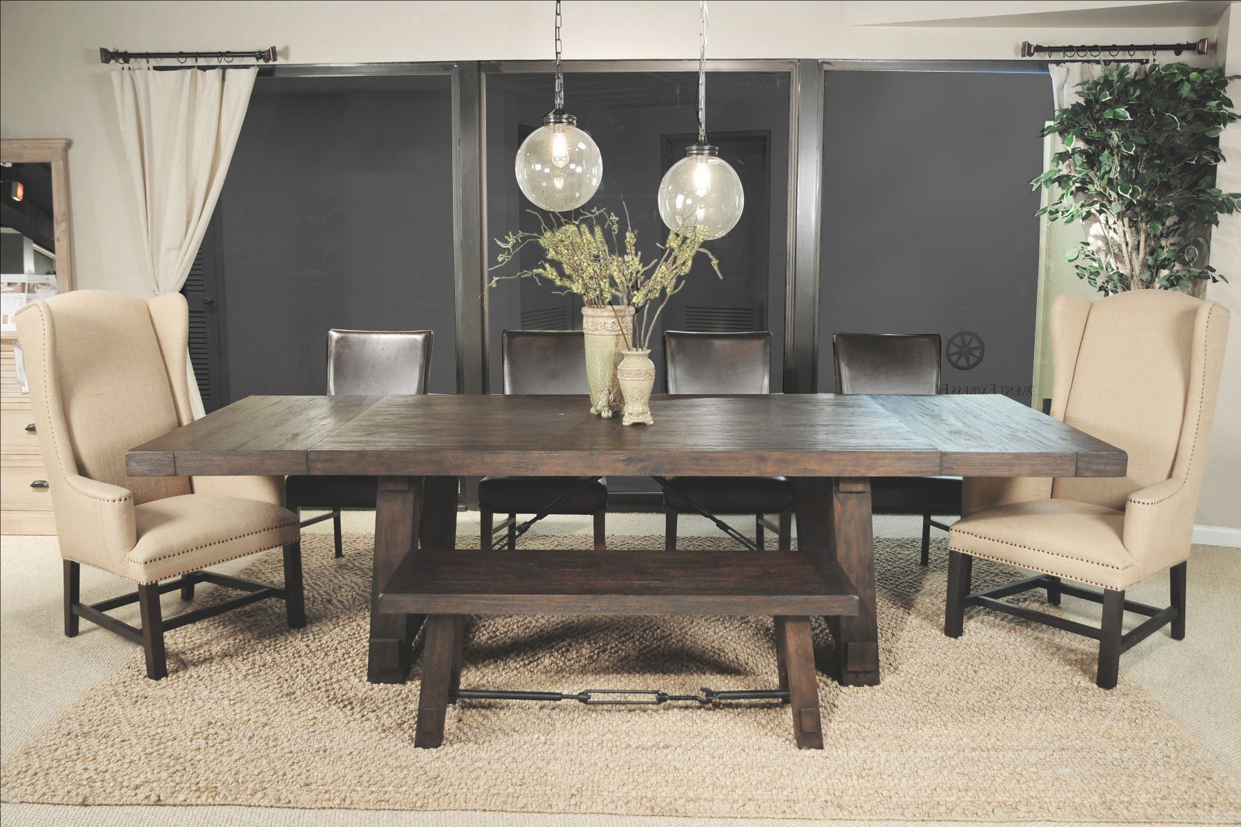 Orient Express Furniture Dining Room Carter Extension Table 6090RJAV