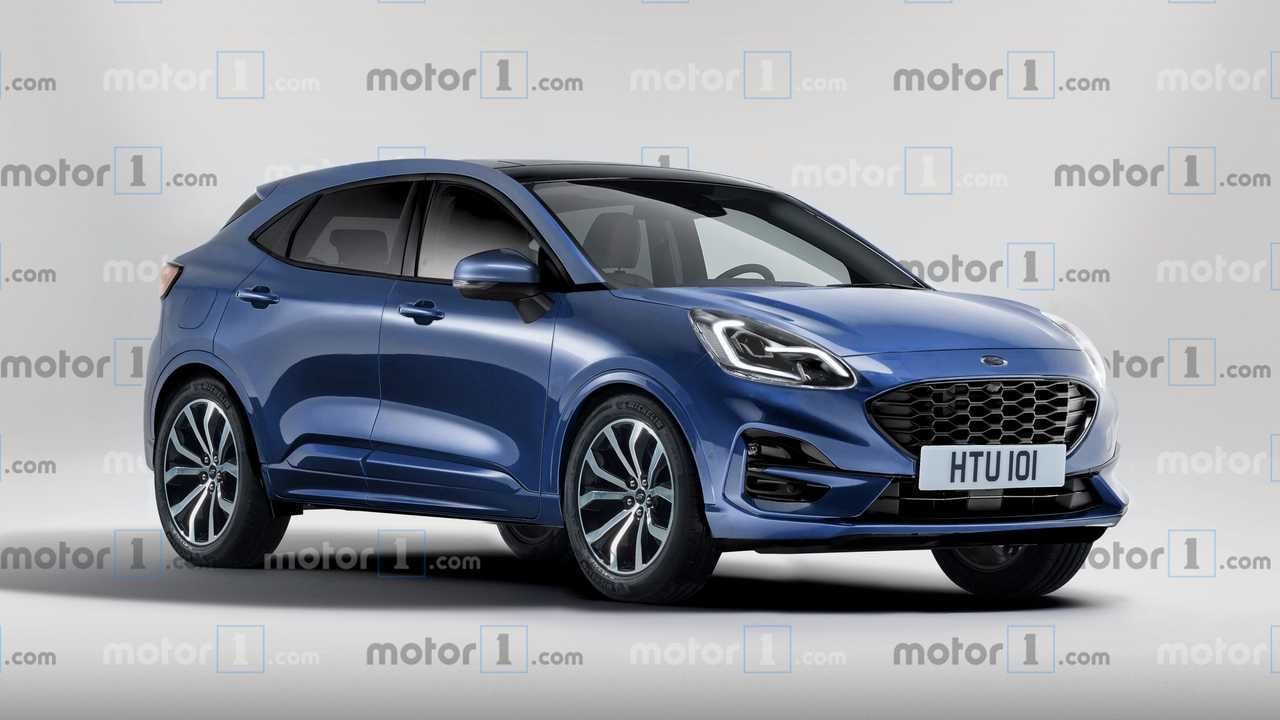 2020 Ford Puma Render Based On Teaser Previews The Fiesta Suv Ford Puma New Suv Upcoming Cars