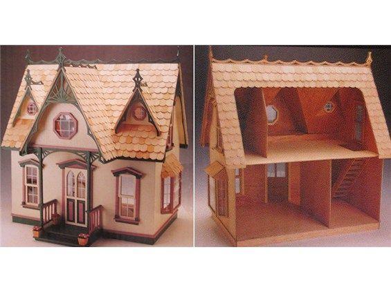 Inexpensive Hobby Lobby Orchid All Wood Dollhouse Kit Dollhouse
