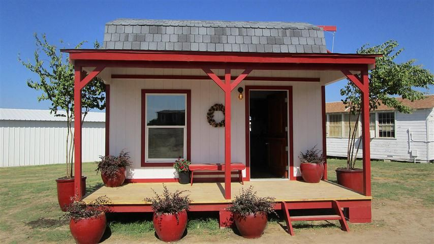 This House Was Created On The Tv Show Texas Flip N Move Out Of A Barn Shaped Shed