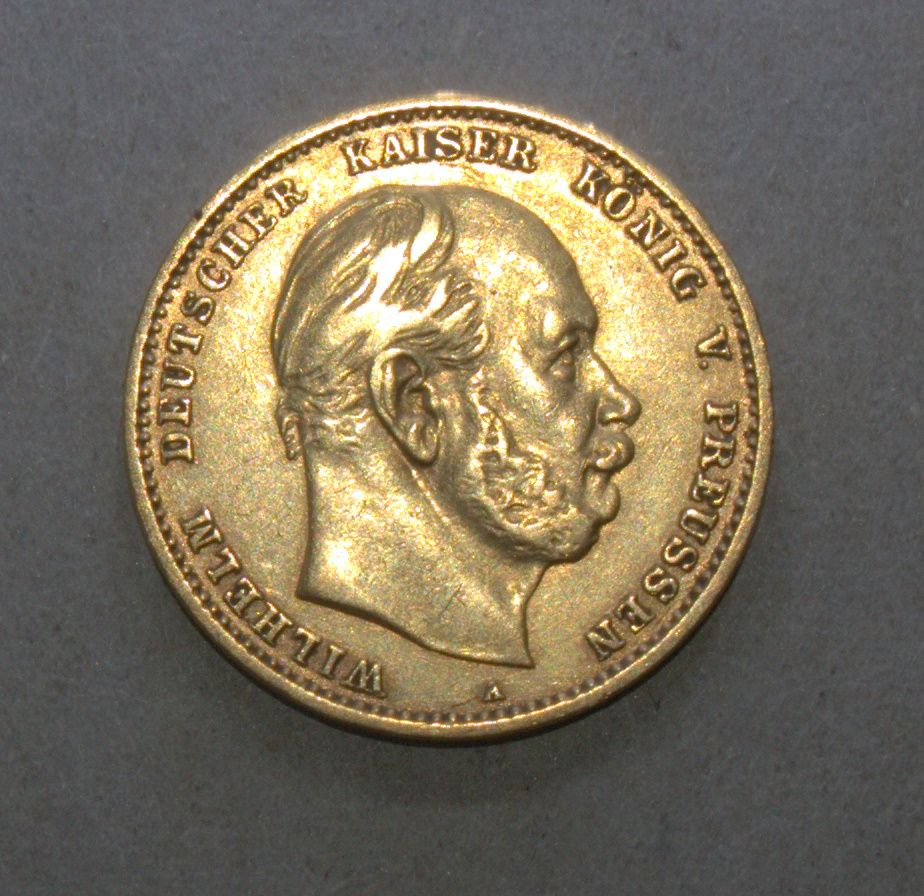 Germany Prussia 1880 A 10 Mark Wilhelm I Gold Coin Km 504 Gold Coins Germany And Prussia Coins