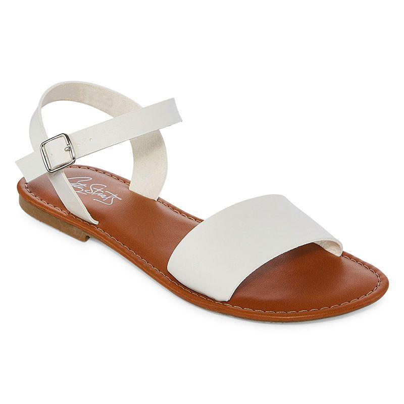 City Streets Womens Aurora Adjustable Strap Flat Sandals