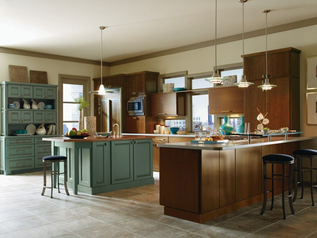 Blythe Maple Clove And Saxony Maple Marine Kitchen By Thomasville