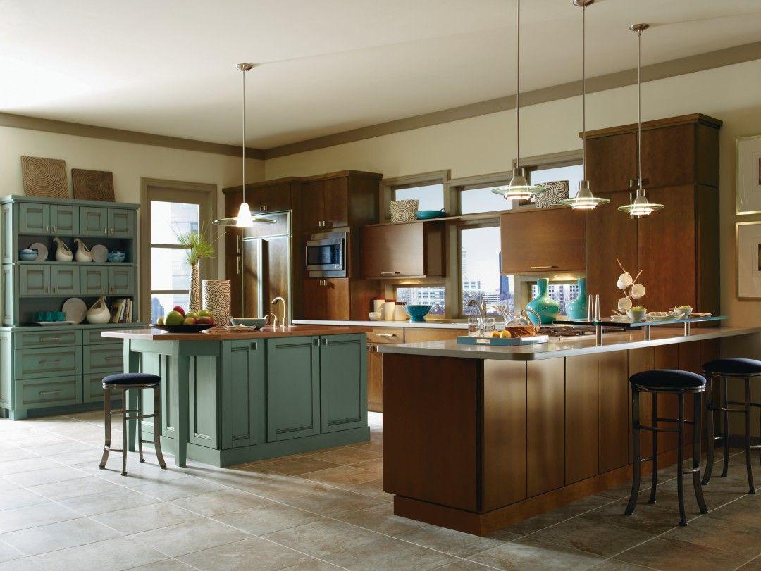 Kitchen Cabinets Thomasville Blythe Maple Clove And Saxony Maple Marine Kitchen By Thomasville