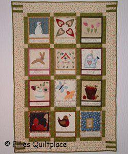 Embroidered Country Calendar Quilt | 3d craft, Quilt tutorials and ... : calendar quilts - Adamdwight.com