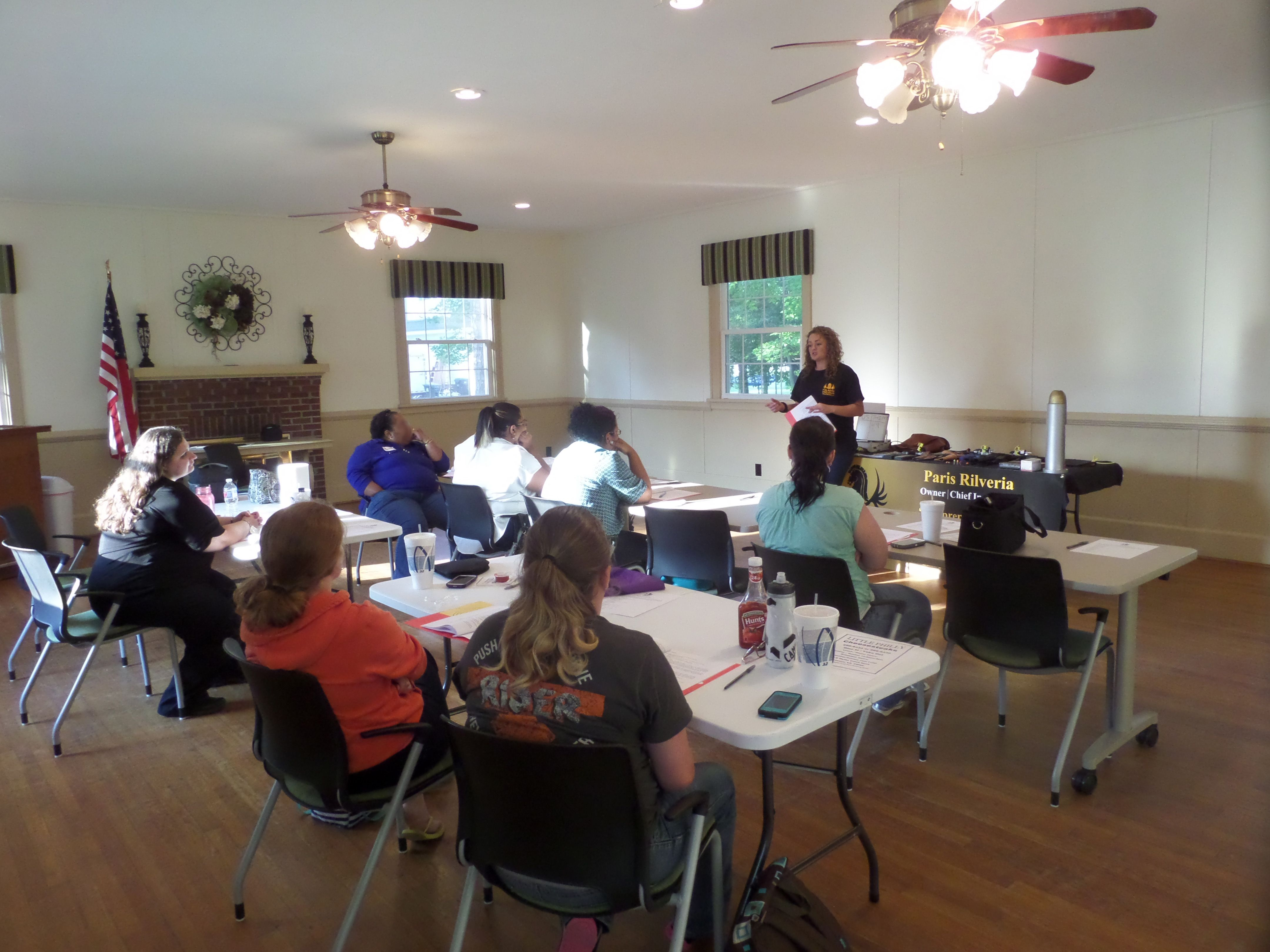 Assistant Instructor Pugh discussing the topic of Children