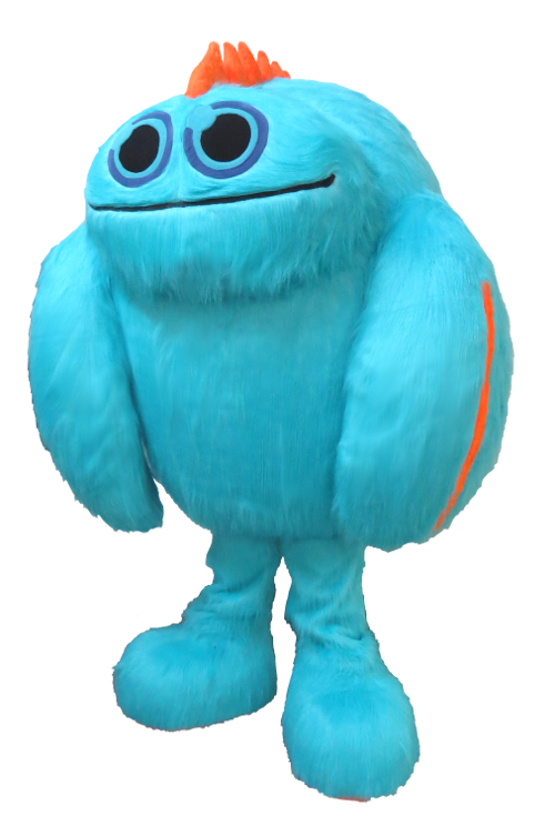 This Is The Kidcon Blue Monster Mascot Made By Bam Fantasy