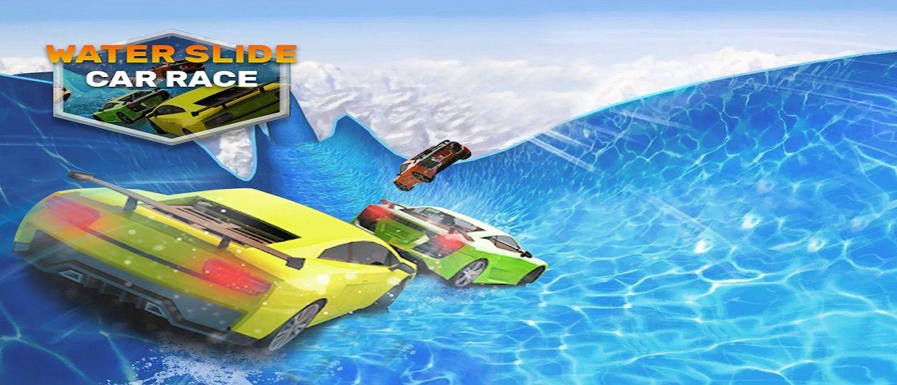 Play Water Slide Car Stunt Racing Game 3d At All Games Free Racing Games Water Slides Stunts