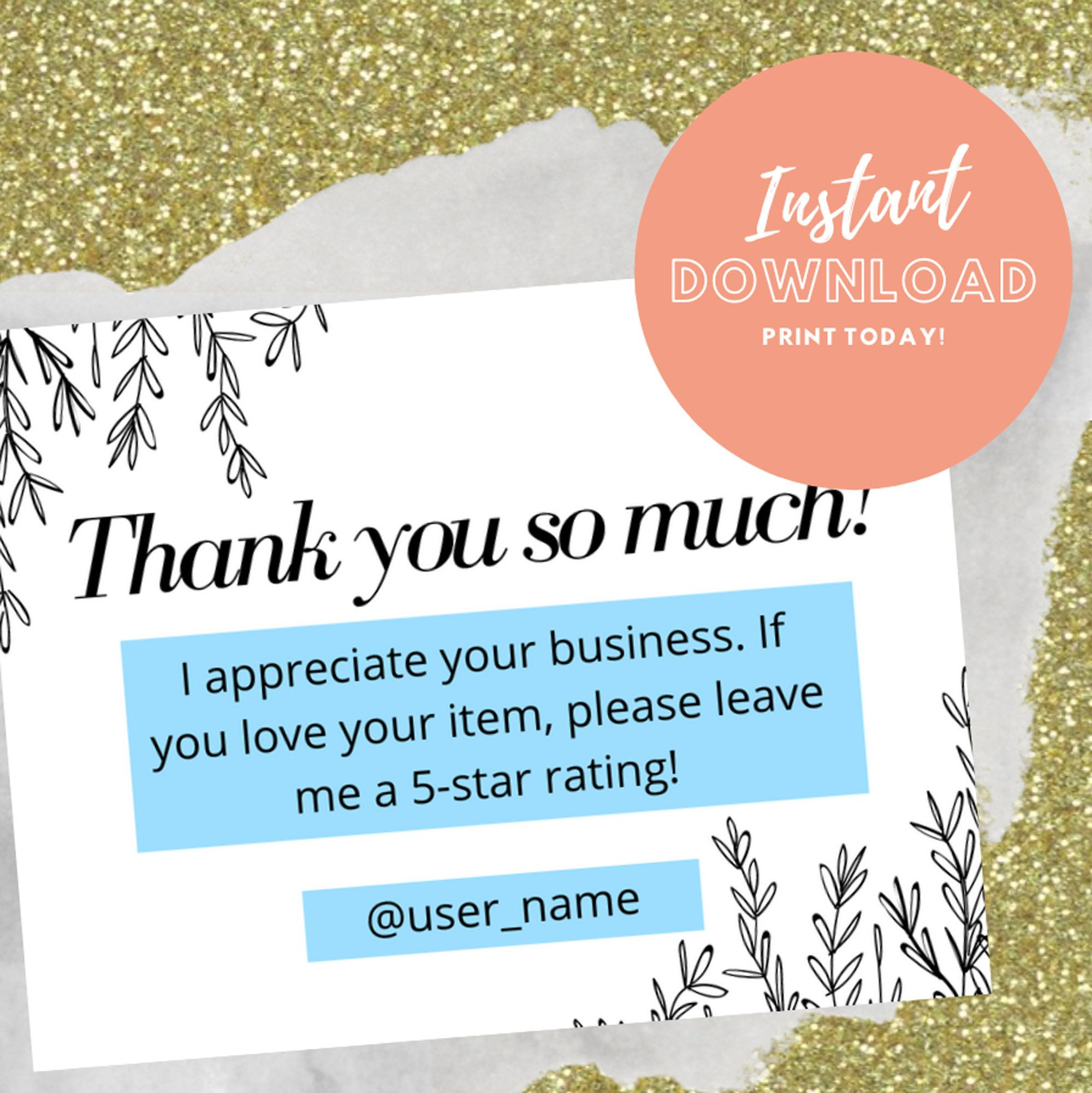 Downloadable Business Thank You Card Template Edit Pdf Etsy Business Thank You Cards Thank You Card Template Business Thank You