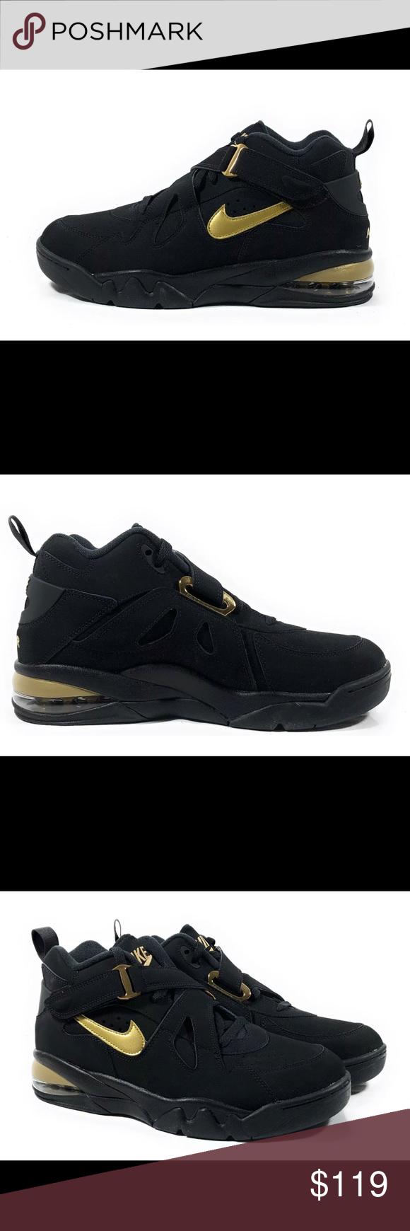Nike Air Force Max CB Men's Black Gold Sneakers Nike Air
