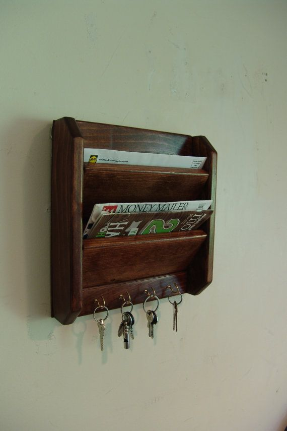 Over 30 Years Carpentry Experience Our Work Is Solar Ed 11 5 Handcrafted 2 Pocket Wall Hanging Mail And Key Organizer With 4 Hooks