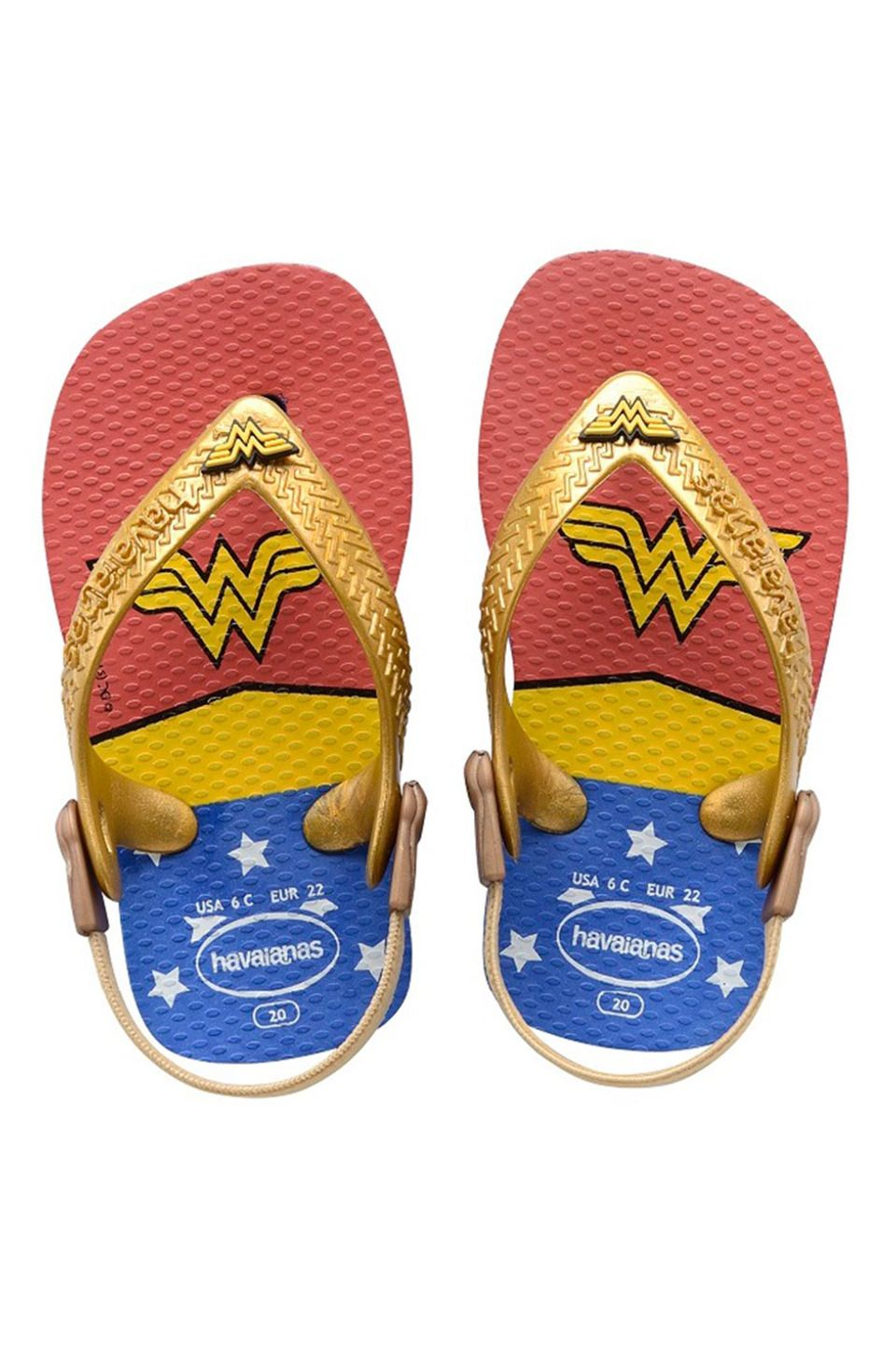 0107cb32565a39 Havaianas - Baby Heroes Flip Flops in Blue Star