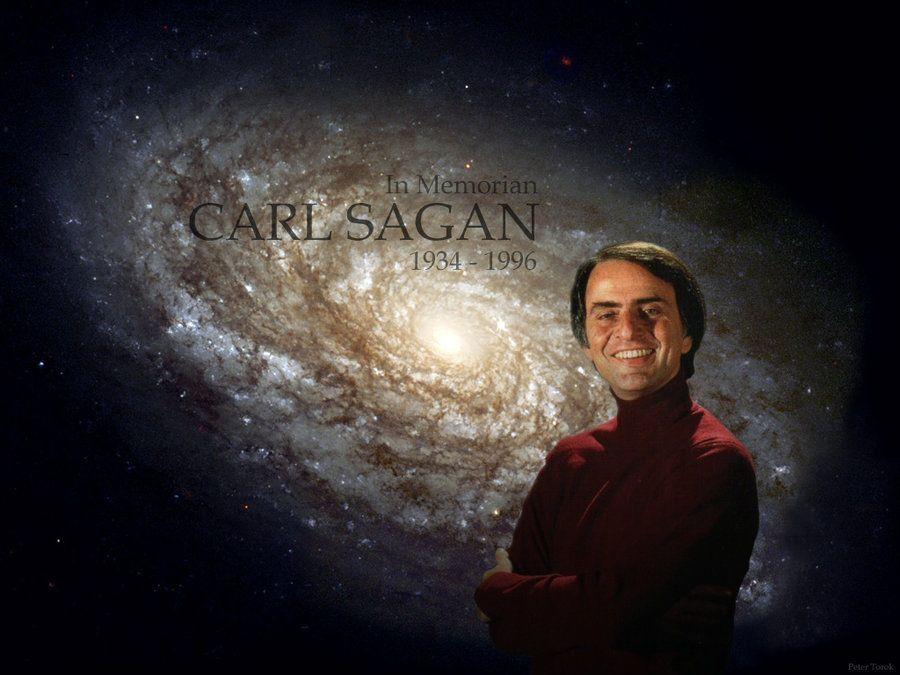 ผลการค้นหารูปภาพสำหรับ carl sagan and galaxy