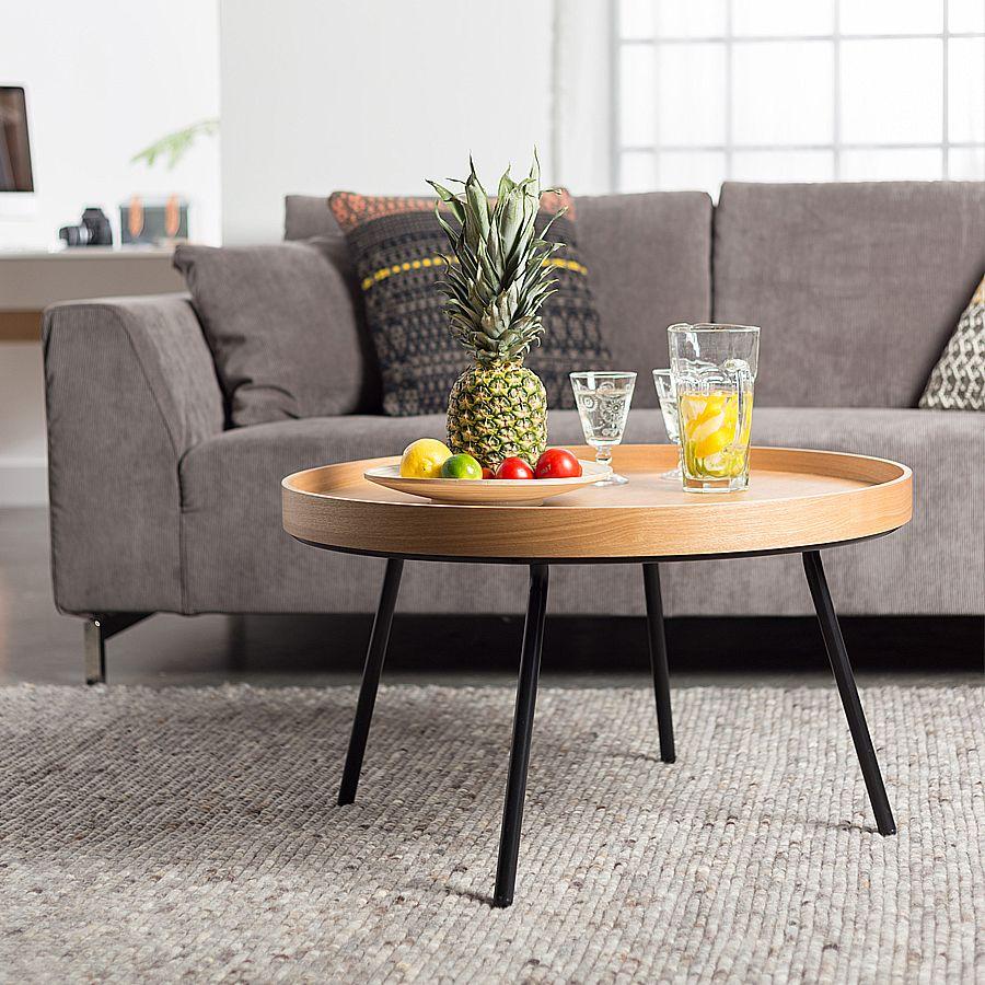 table basse oak 78 cm. Black Bedroom Furniture Sets. Home Design Ideas