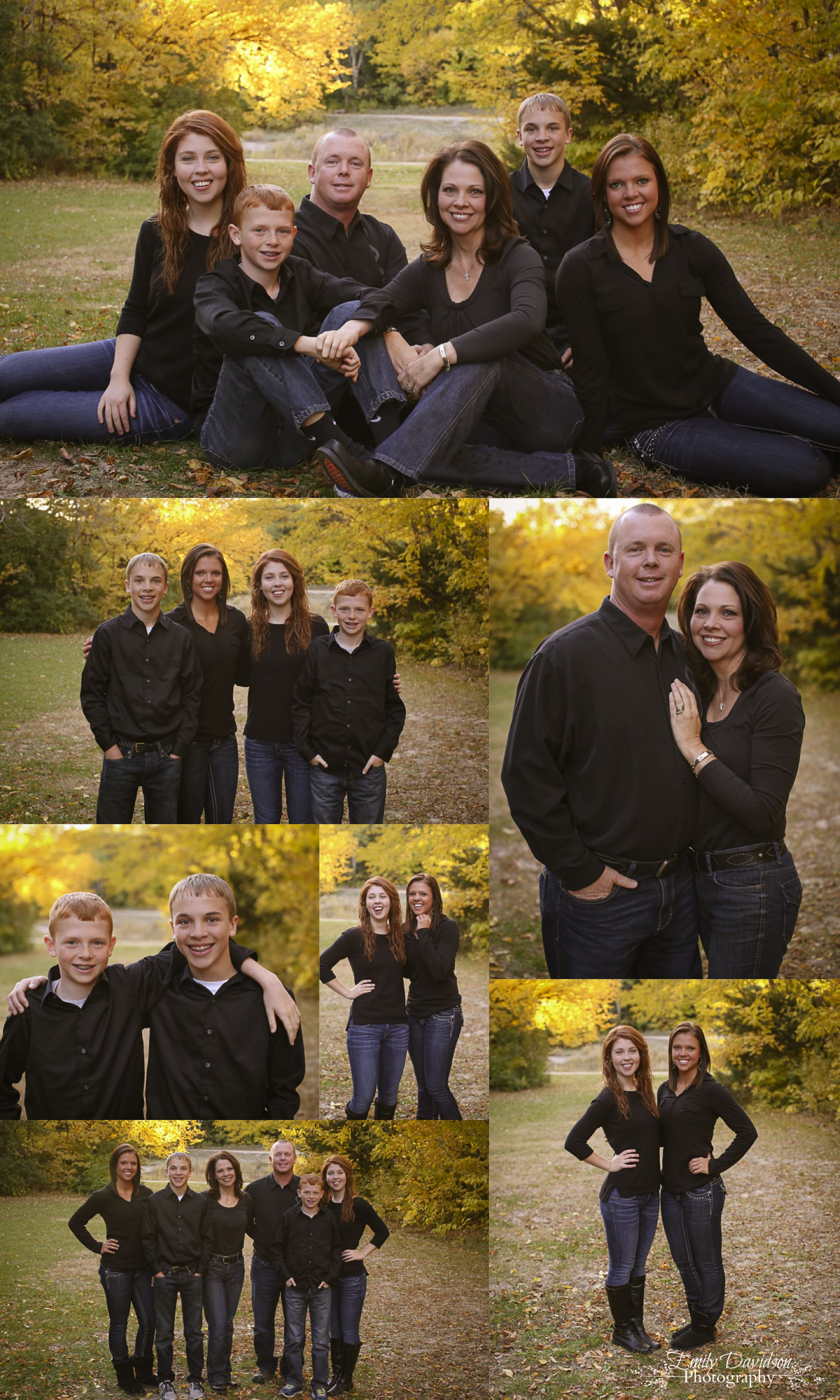 Fall Family Photos Older Children Poses Outfits Love It Emilydavidsonphotography