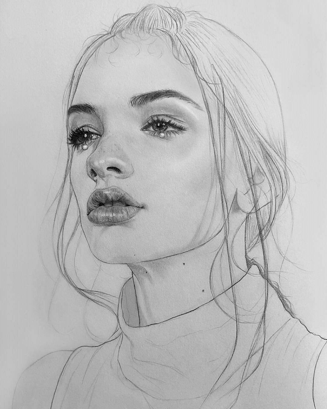 картинки портретов рисунок карандашом модели гардин
