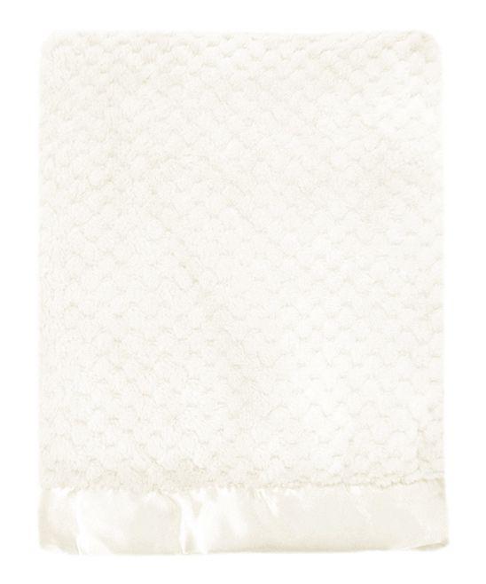 White Mon Lapin Popcorn Plush Blanket