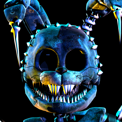 Sinister Bonnie Is One Of The Antagonist Who Was Going To Appear In The Cancelled Fan Game Sinister Turmoil Sinister Bo Fnaf Fnaf Drawings Fnaf Golden Freddy
