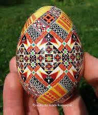 Pysanka, Real Ukrainian Easter Egg (goose egg shell) Pysanky. Hand ...