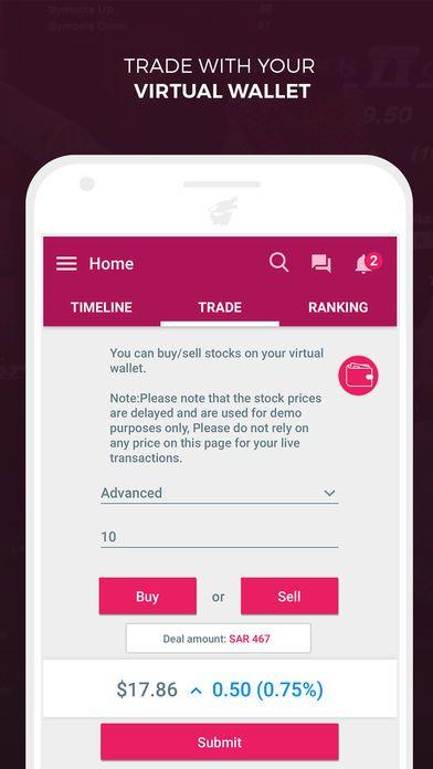 تطبيق Tridder شبكة اجتماعية للمهتمين بسوق الأسهم السعودي للأندرويد والأيفون نيوتك New Tech Price Page Stock Prices 10 Things