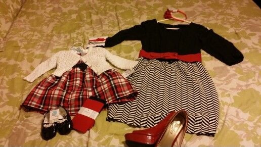 Mommy and Avery Christmas outfits