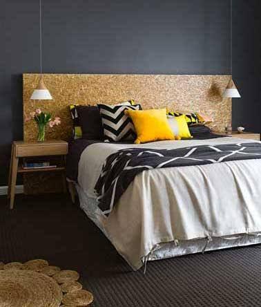 Fabriquer une tête de lit avec 3 fois rien Bedrooms - peindre un lit en bois