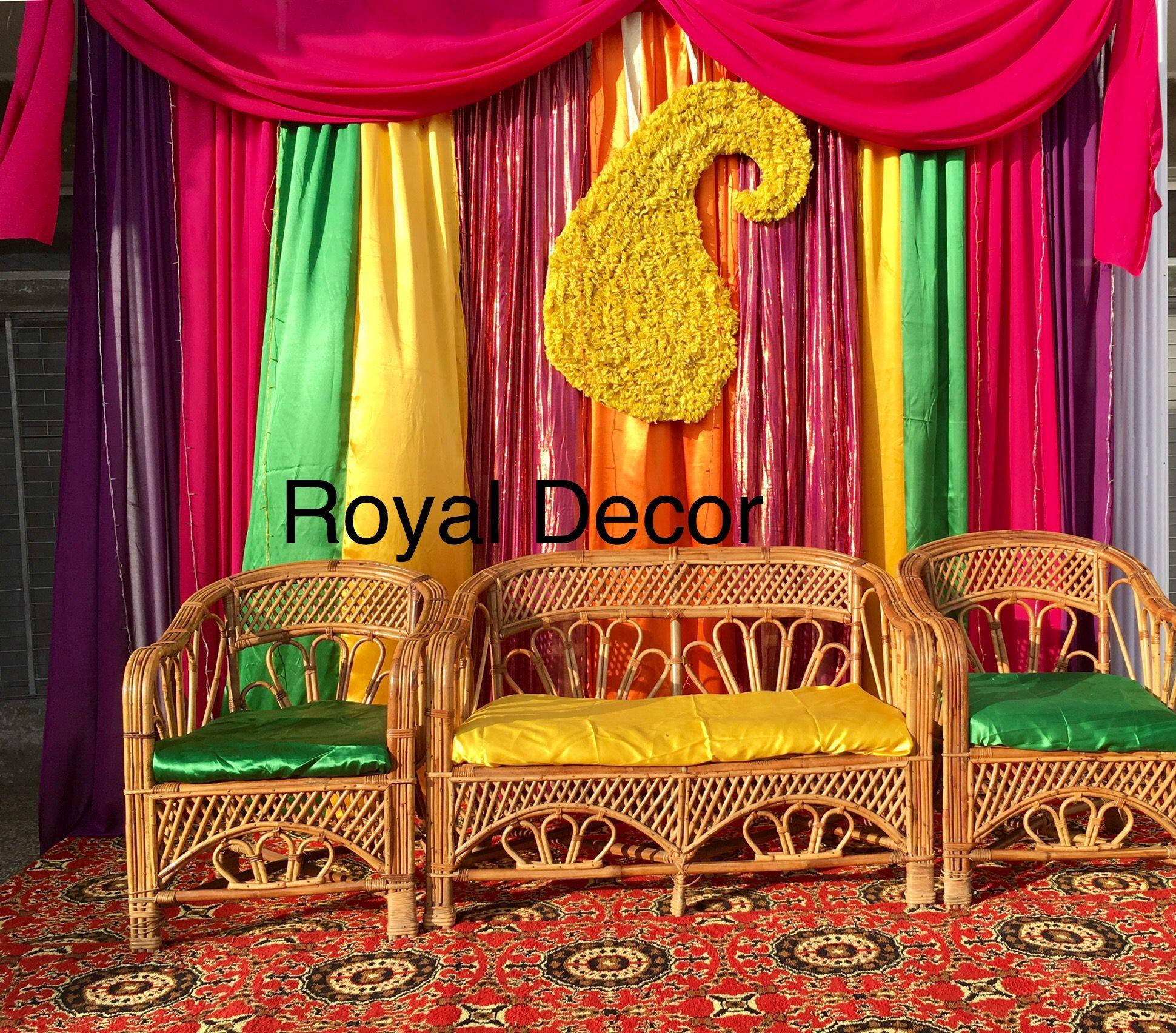 Diy Mehndi backdrop on a budget