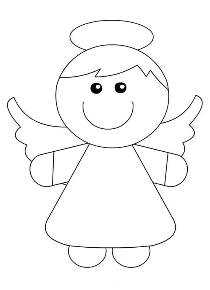 Kolorowanki Aniolek 1 Do Drukowania Dla Dzieci I Doroslych