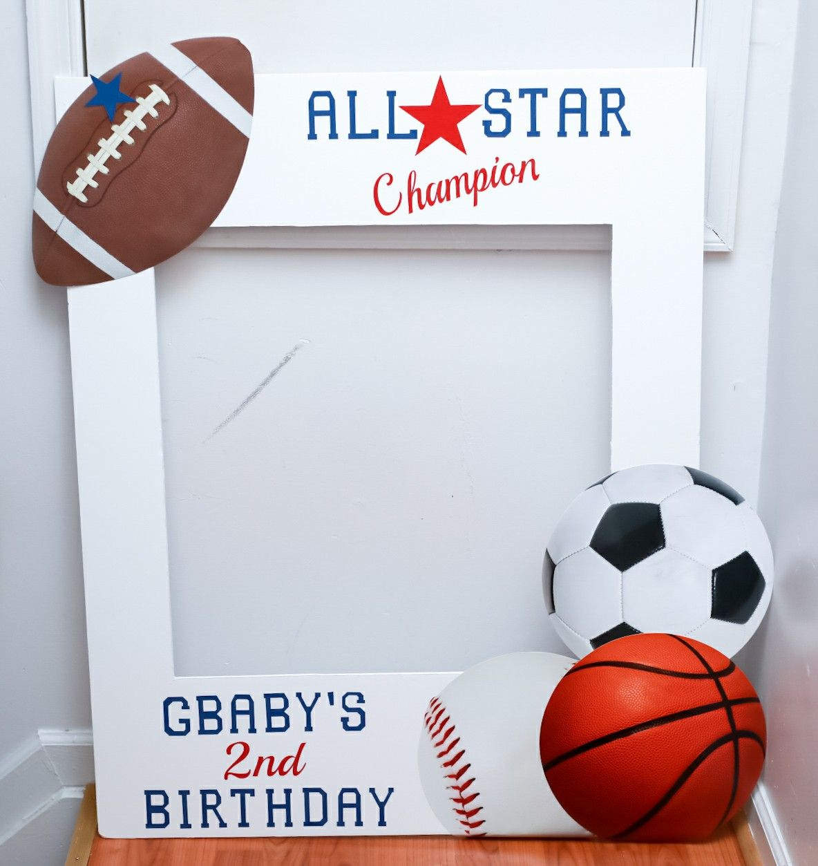 Diy All Star Birthday Photo Prop Sports Birthday Photo Prop Sports