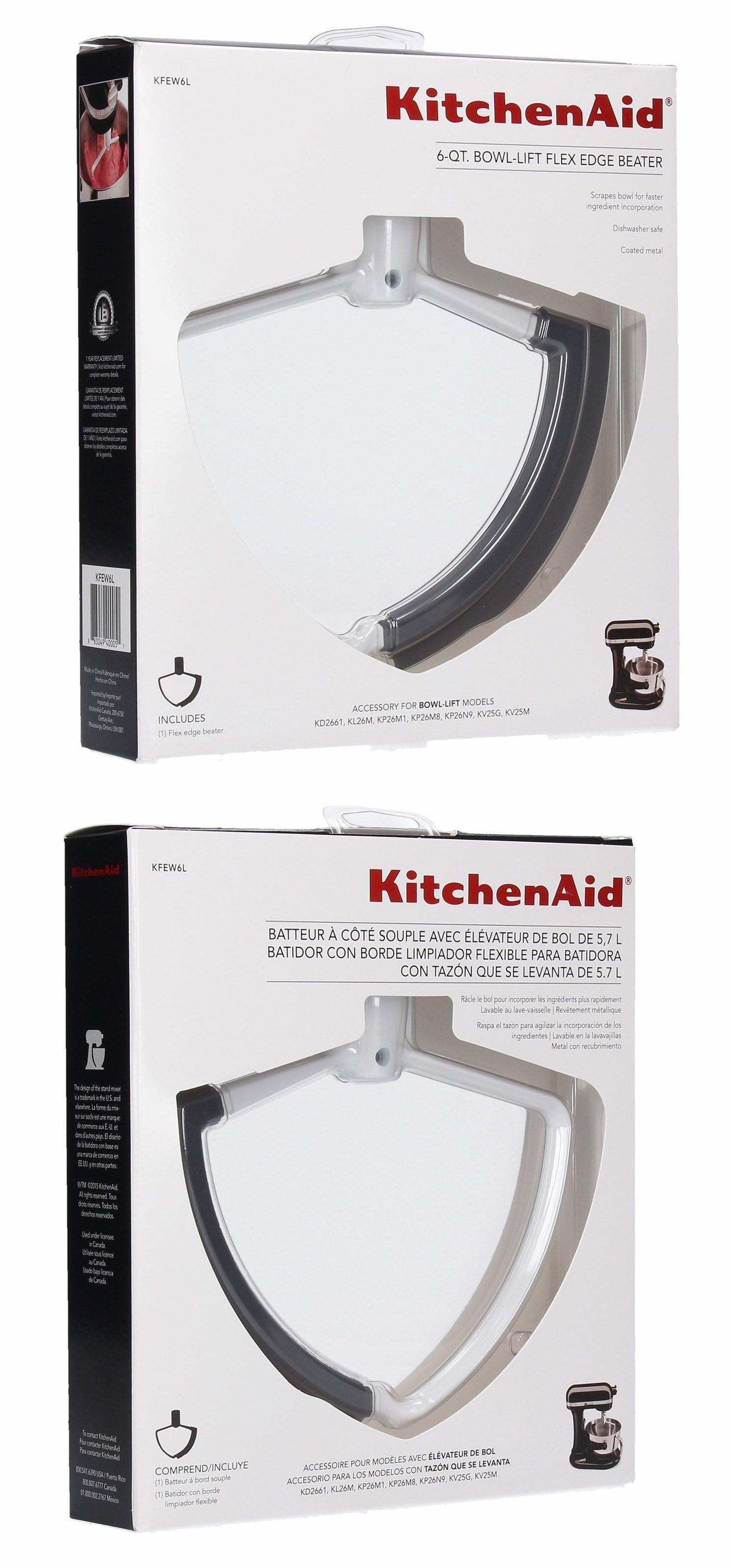 Countertop mixers 133701 kitchenaid kfew6l flex edge