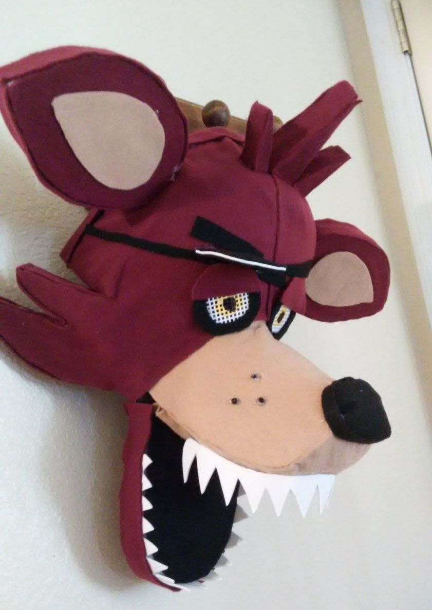 Fnaf masks for sale - Fnaf Foxy Inspired Cosplay Halloween Mask Pirate Hook By Diddlesweets On Etsy