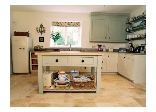 Hand crafted, hand painted freestanding feel kitchen by barnes of - vintage möbel küche
