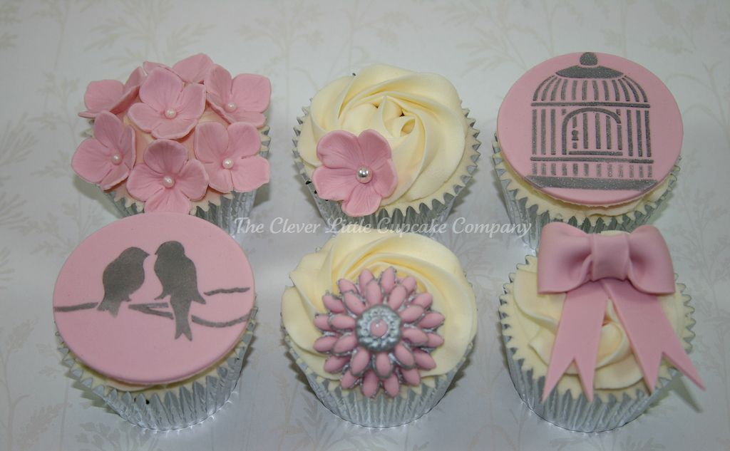 real flowers on blue cupcakes on pinterest - Google Search