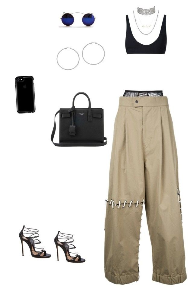 """""""oh she think she bad"""" by briannamazzola ❤ liked on Polyvore featuring Fleur du Mal, Rochelle Sara, Craig Green, David Yurman, Dsquared2, Yves Saint Laurent and Speck"""