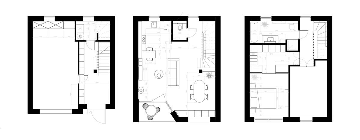 Unusual Home Layout With Creative Accent Colours House