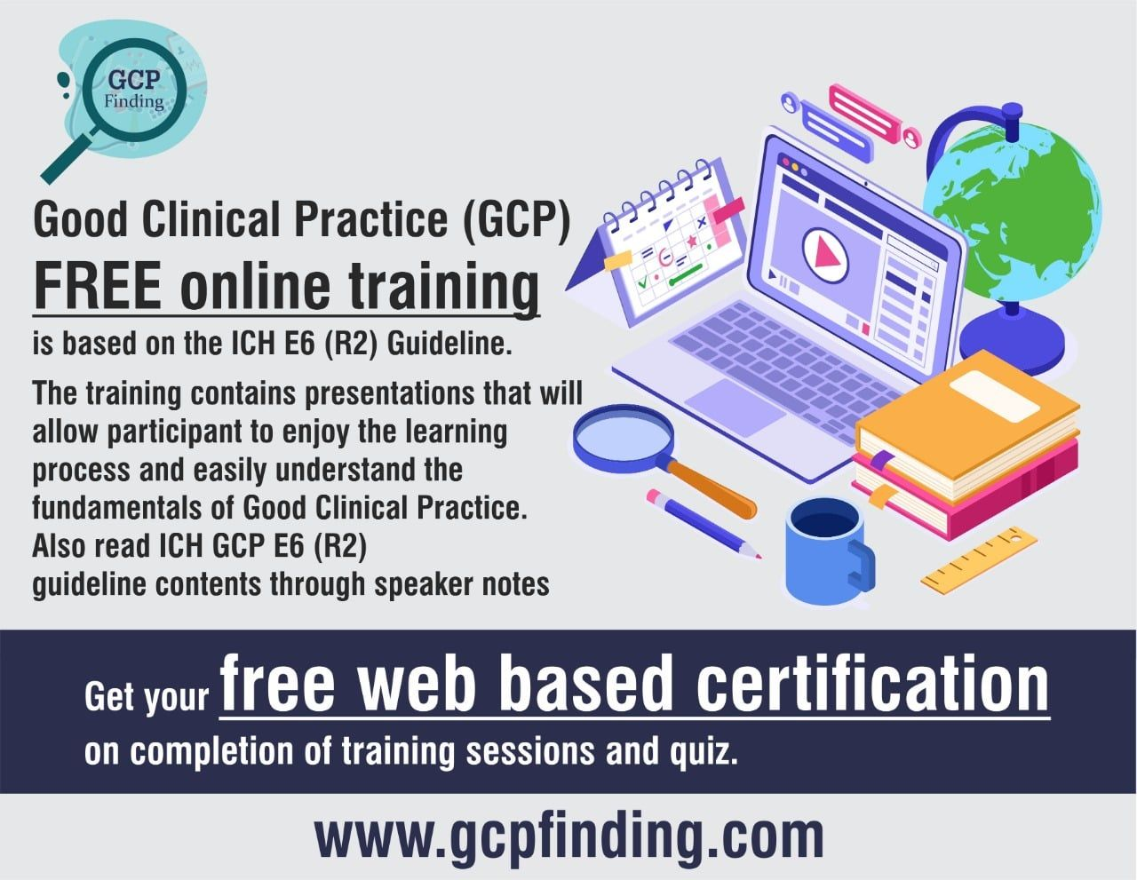 Good Clinical Practice Gcp Free Online Training Is Based On The Ich E6 R2 Guideline In 2020 Online Training Clinic Drug Discovery