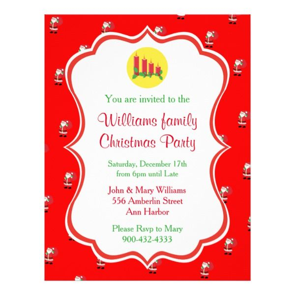 Christmas Party Invitation Flyer Party invitations - holiday party invitation