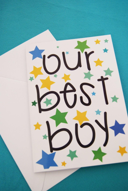 Our Best Boy SON Happy Birthday Greetings Card