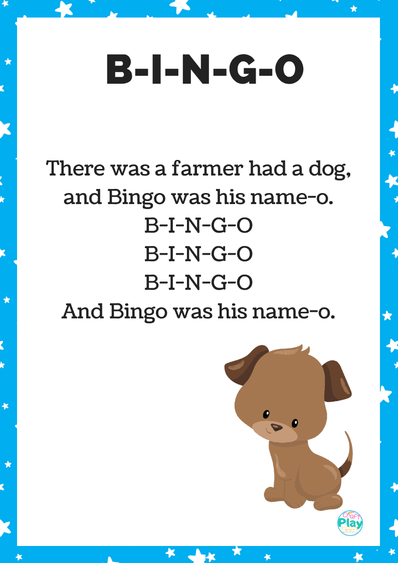 BINGO Song: Lessons and Activities to Go with It