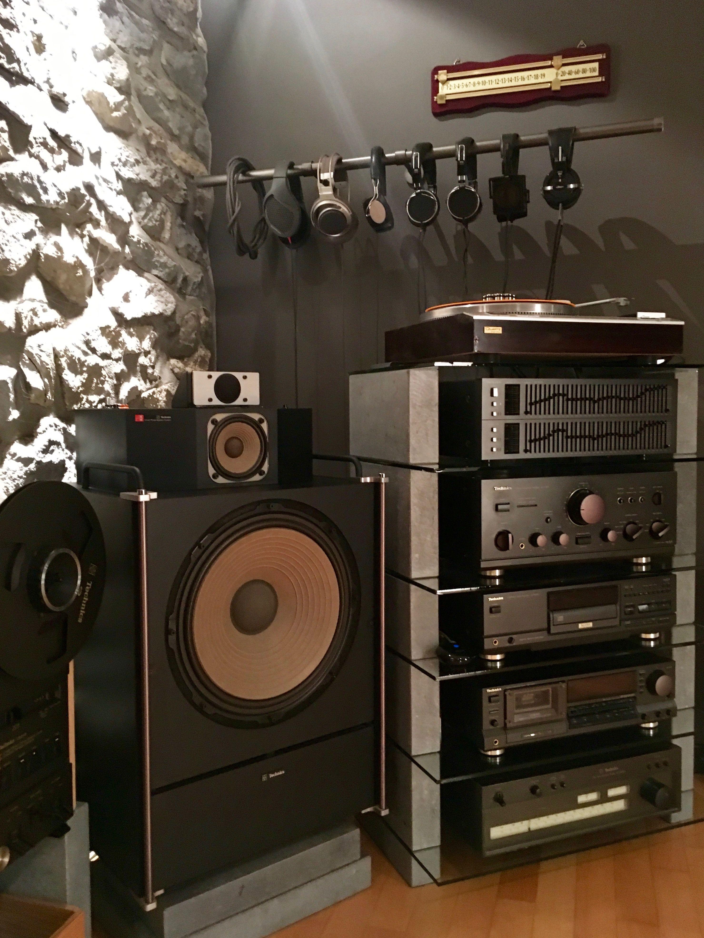 My Vintage Hifi Room Technics Stax Audio Room Hifi Audio Technics Hifi