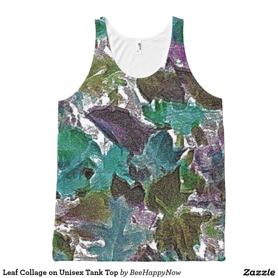 Leaf Collage on Unisex Tank Top All-Over Print Tank Top