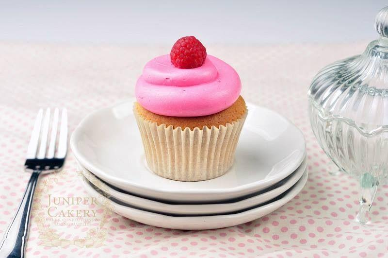 Pretty Raspberry Cupcake by Juniper Cakery