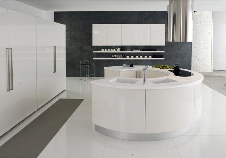 Cuisine Circulaire Beta D Armony Au Design Tres Epure Et Sobre Elle S Organise Autour D Un I Cuisine Moderne Design Cuisines Design Modele De Cuisine Moderne
