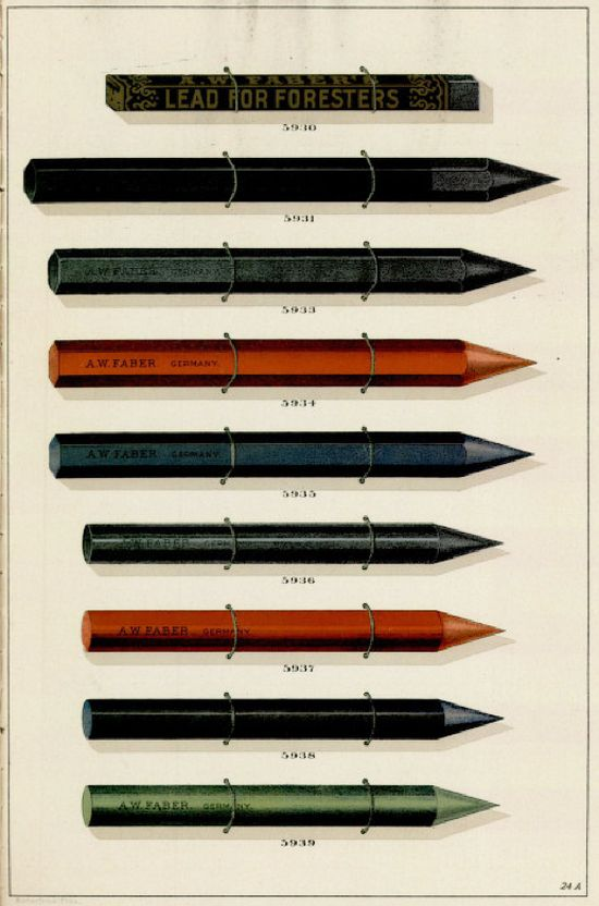 A W Faber Pencil Pusher Faber Vintage Labels Pencil