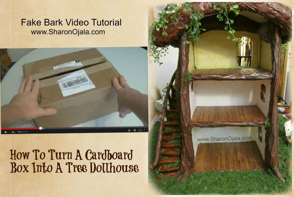 Homemade Obsessions: Fake Bark For Making Fairy or Gnome Houses New Revised Tutorial.. video tut here: https://www.youtube.com/watch?v=Tfofei4nHPA&feature=youtu.be&list=PLbuVHsA9qzaaLcG-cy-Fdpyi7oDCn9Tr_